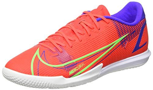 Nike Unisex Vapor 14 Academy Ic Fußballschuhe, Bright Crimson Metallic Silver Indigo Burst White Rage Green, 42 EU