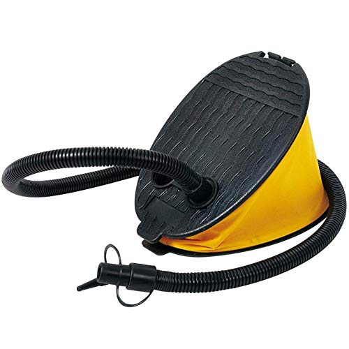 winnerruby Bomba de pie, bomba de pie amarilla para colchón de aire, globo inflador, flotador, piscina, colchón de aire, kayak hinchable