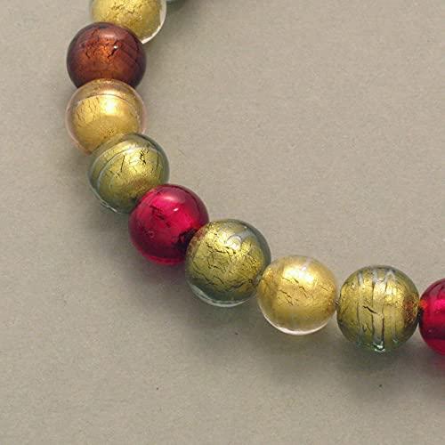 Collar de cristal de Murano y turmalina