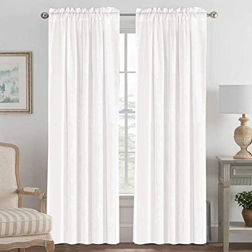 Linen Curtains Elegant Natural Linen Blended Curtains Energy Efficient...