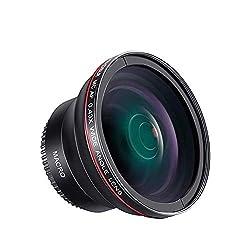 Yuhtech 58MM 0.43x Altura Photo Professional HD Weitwinkelobjektiv (mit Makroteil) für Canon EOS Rebel 77D T7i T6 T3 SL1 1100D 700D 650D 600D 550D 300D 100D 60D