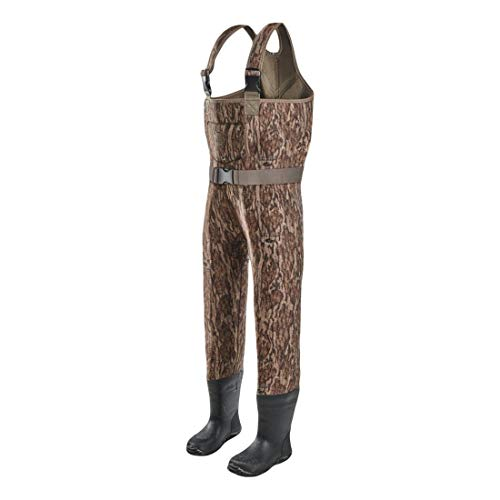 Gator Waders Youth Hunting Waders with Boots, Mossy Oak Bottomland, 6/7 - Warm and Waterproof Neoprene - Adjustable Straps