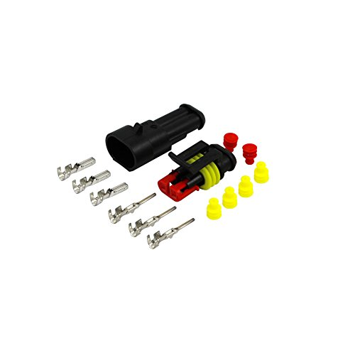 AMP Superseal Stecker Set 2 polig 0,75-1,5 mm² KFZ Elektrik Steckverbinder Sortiment Wasserdicht