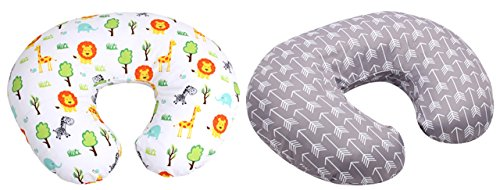 SALE - MyTickles Nursing Pillow and Positioner (With TWO Slipcovers), Positioning & Support For Breastfeeding Moms & Baby. A Perfect Present / Great Baby Shower Gift!