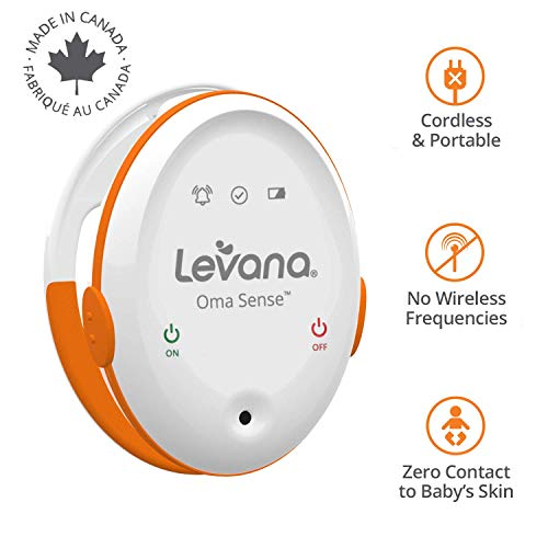 Levana Oma Sense Portable Baby Breathing Movement Monitor with Vibrations and Audible Alerts Designed to Stimulate Baby and Alert Parents