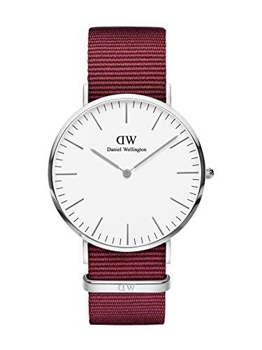 Daniel Wellington Unisex Erwachsene Analog Quarz Uhr mit Stoff Armband DW00100268