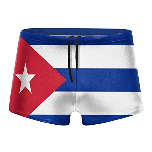 YYRR Bandera de Cuba Hombres Traje de baño Bikini Swim Brief Board Shorts Surf Boxer Trunks Trajes de baño