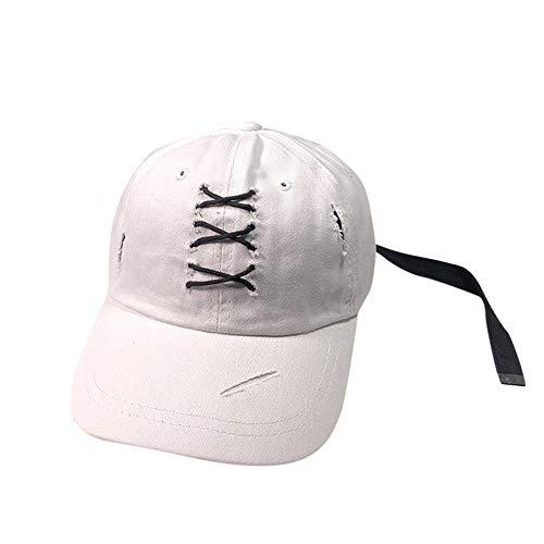POIUIU Baseballmütze Frühling Unisex Baseballmütze Sommer Verstellbare Kappe Hip Hop Cross Strap Hüte Für Männer Frauen Schleifen Multicolor