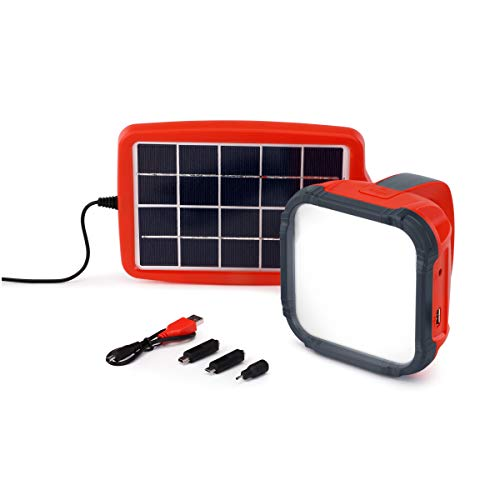 d.light S550 Solar Rechargeable LED Light Set - Pack of 1 | Solar Light for Home and Mobile Charger, Reading Light, Desk Light, Solar lamp, Task Light