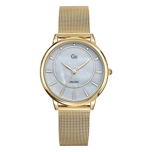 Girl Only - Reloj de pulsera analógico para mujer, oro 695331 GO con correa de acero inoxidable, UGO695331