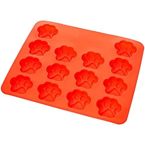 Molde de silicona con diseño de huella de perro