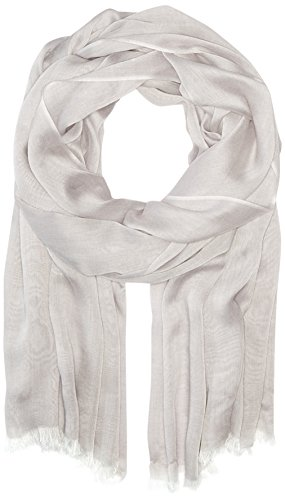 Calvin Klein Women's Solid Chambray Scarf, Heathered Mid Grey, One Size