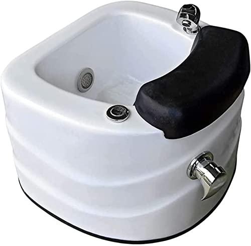 LCNING Nail Salon Pedicure Bath Basin, Ciotola per Pedicure acrilica con ugello, Spa Pedicure Sedia, Doccia a Piedi, Sala Massaggi, mobili e Attrezzature per Pedicure per Unghie (Colore : Bianca)