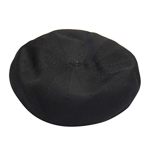 baskuwish Beret Hat French Style Beanie Hats Fashion Ladies Beret Caps Outdoor Hat Black