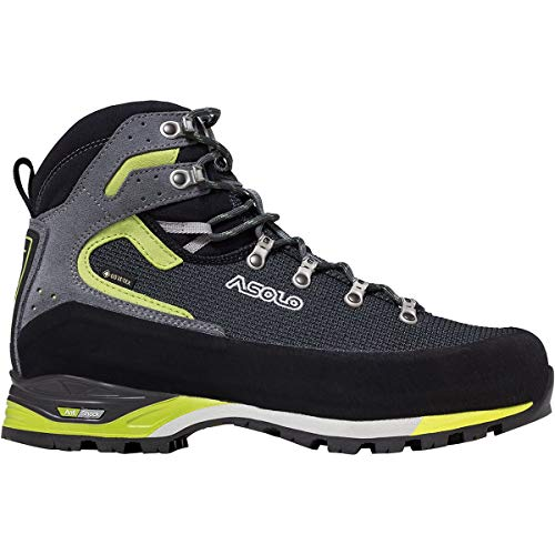 Asolo Corax GV Backpacking Boot - Men's Black/Green Lime, 8.5