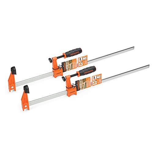 Jorgensen 2-pack Medium Duty Steel Bar Clamp Set with 600 lbs Load limit, 24-inch