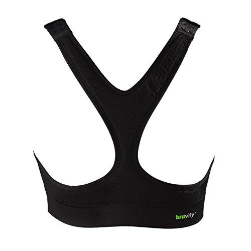 Bravity Women Anti-Wrinkle Cleavage Sleep Bra/Seamless & Adjustable Black Size Medium