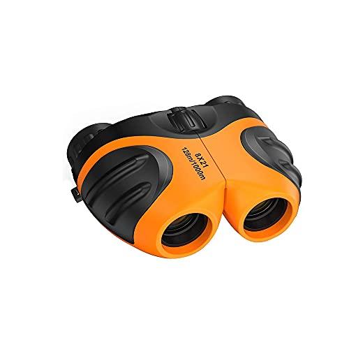 SHFAMHS Juguetes Binoculares para Niños, Juguetes para Deportes Y Juegos Al Aire Libre, Equipo De Espionaje Y Regalos De Aprendizaje para Niños Y Niñas, Naranja