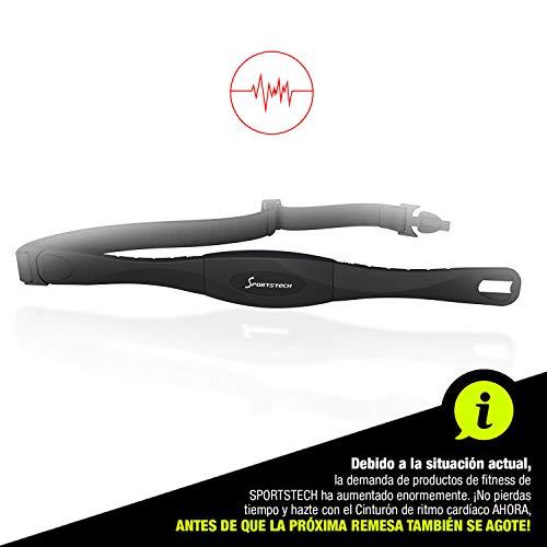Sportstech Pulsómetro Pecho para Entrenamiento de frecuencia cardíaca, elíptica, Cinta de Correr, Bicicleta elíptica y máquinas de Remo (Pulsómetro)