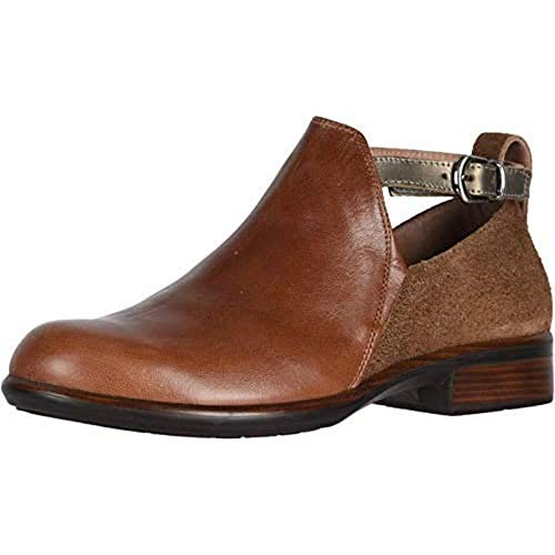 Naot Women's Kamsin Transitional Brown Leather Combo Boot 8 M US