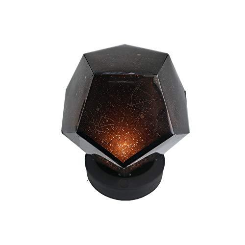 Luz nocturna Lámpara de proyección de fuego brillante 3 Cambio de color Control remoto USB fuente de alimentación giratorio hermoso cielo estrella baile cielo simple astronómico ambiente romántico amb