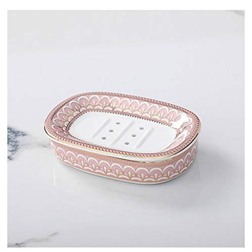 ZAIZAI Plato de jabón para jabón de Ducha, Soporte de Caja de Ahorro de jabón con Drenaje para baño de baño, Ducha, Cocina, Mantener el jabón seco y Limpio (Color : B)