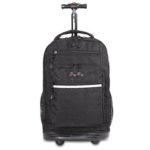 J World New York Sundance Laptop Rolling Backpack, Argyle Black, One Size