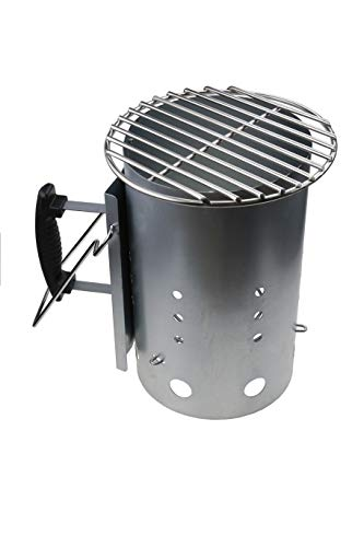 GFTIME Chimney Starter & Stainless Steel Mini Grid DIA 22.86CM ……