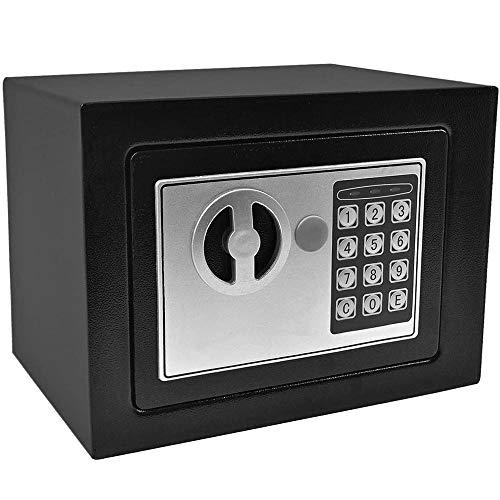 WANGJUNXIU De Safes, Electronic Security Veilig naar huis Digital Lock Brandwerende sieraden Cash-w / Full-cijferig toetsenbord U behalve kracht zet sleutels zwart veilig - 23x17x17 cm Safe
