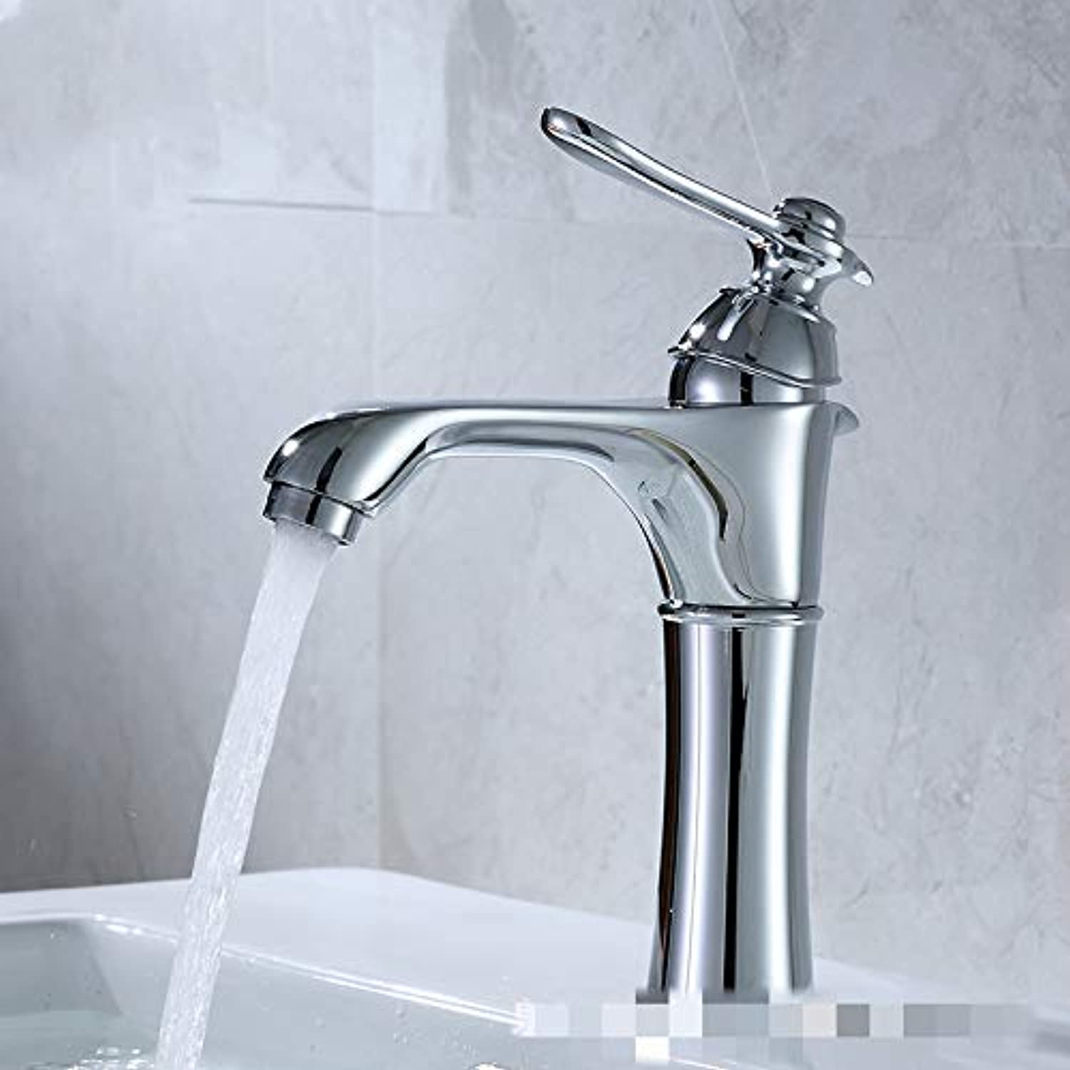 Washbasin Faucet hot and Cold Basin Single Hole Faucet Copper Drawing