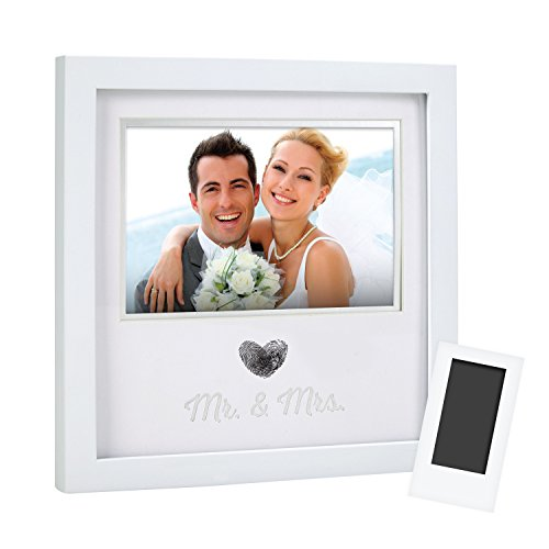 Pearhead 'Mr. & Mrs.' Thumbprint Keepsake Picture Frame With Clean Touch...