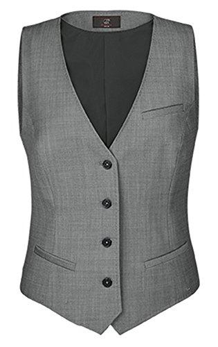 GREIFF Damen-Weste Regular Fit, modern with 37,5, Regular fit, 1714, hellgrau, Größe 46