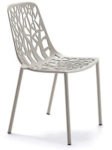 Silla Apilable Forest Fast De Aluminio Fundido Revestido En Polvos Art 6501 Color Gris Claro