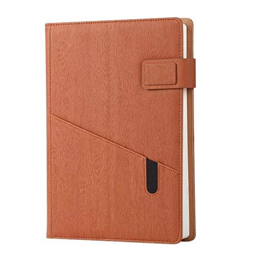LICHUAN Cuaderno de tapa dura A5, diario personal, escuela, oficina, papelería, cuaderno, diario y notas de negocios (color D: D)