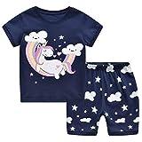 MIXIDON Pijama infantil de algodón para niña, tallas 98, 104, 110, 116, 122, 128, 134, 140, 146 Unicorn4 6 años