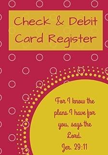 Check & Debit Card Register (BONUS Notes area/7 X 10 inches): Checkbook Register/Transaction Register (Debit Card & Check Registers)