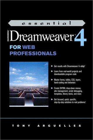 Essential Macromedia Dreamweaver 4 for Web Professionals (Prentice Hall Essential Web Professionals Series)