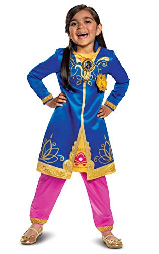 Mira Royal Detective Costume for Kids, Disney Jr Inspired Children's Character Outfit, Deluxe Toddler Size Large (4-6x)