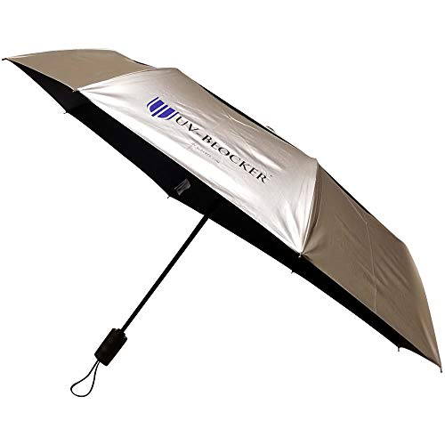 UV-Blocker Umbrella with Solar Protection | Blocks 99% of UVA/UVB Sun Rays to Protect Against Skin Cancer | Recommended by the Melanoma International Foundation | Double Canopy Vented Cooling Umbrella