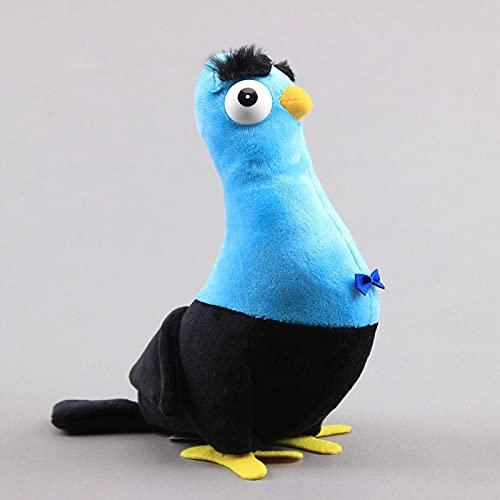 Espías disfrazadas Palomas Juguetes de peluche Anime de peluche Juguetes para niños Azul Pájaro Felpa Muñeca Coche Decoración 20cm Azul