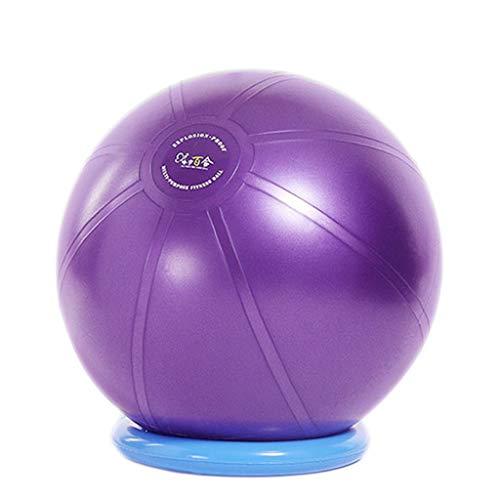 TONG Bola de Yoga Bola de Masaje Bola de Yoga Engrosada Bola de Fitness a Prueba de explosiones Bola de Gimnasia sin Sabor ecológica Forma (Color : Purple, Size : 55cm)