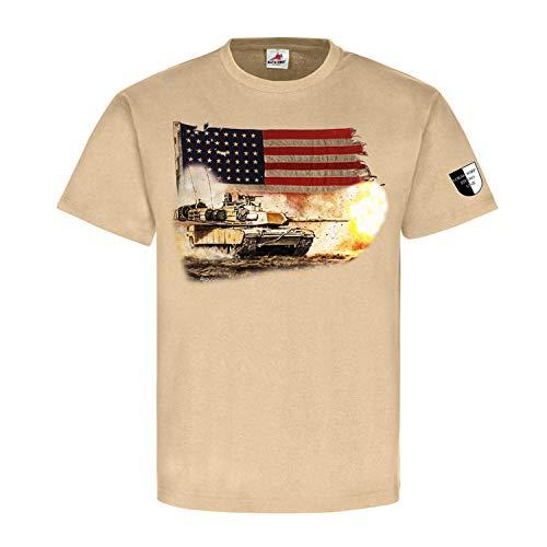 Lukas Wirp M1 Us Tank Tanque USA Iraq Militar Malerei Amerika T Shirt #23556 arena XXL