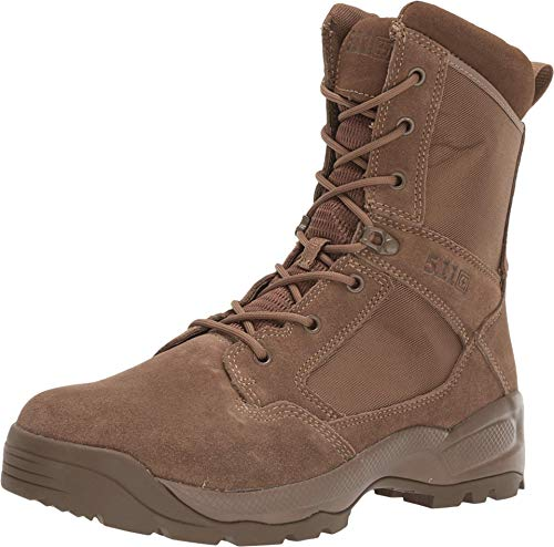 5.11 Men's ATAC 2.0 8' Tactical Side Zip Military Boot, Style 12393, Dark Coyote, 8.5 W US
