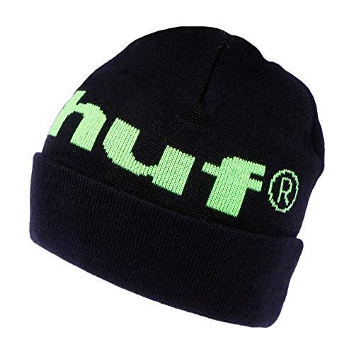 HUF 98 Logo Beanie Mütze - Schwarz - Einheitsgröße