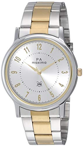 Maxima Analog Silver Dial Men's Watch - 48292CMGT