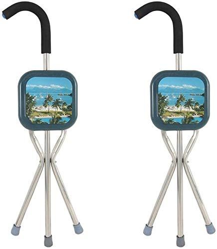 MY1MEY Gehstöcke Für Senioren Klappstative/Hocker Krücken Walkers Curved Landscape Paneellänge 80 cm (31.50 Zoll) (größe : Zwei)