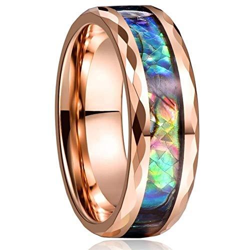 DJDLNK Vintage Ringen voor mannen, roségoud, zwart en rok, geschikt als cadeau