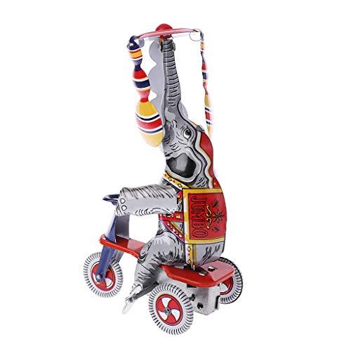 suoryisrty Elefant Dreirad Metallspielzeug Uhrwerk Frühlingsumdrehung Gedenksammlung Spielzeug Kinder Kinder Vintage Erwachsene Geschenke Dekoration Kunsthandwerk