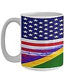 N\A USA Salomonen Flagge Polynesische weiße Kaffeetasse Teetasse