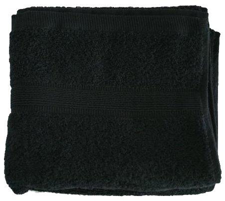 Unbekannt Textiles Direct Serviettes et Accessoires de Bain 100 % Coton égyptien 500 g/m² 50 x 85 cm Noir